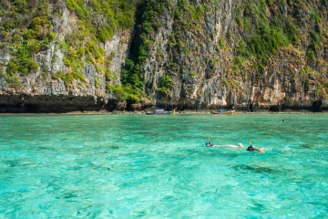 potápění, moře, voda, léto, dovolená, krajina, pobřeží