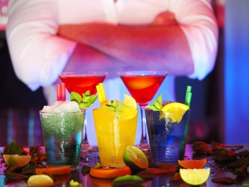 barman, cocktail, fruit juice, party