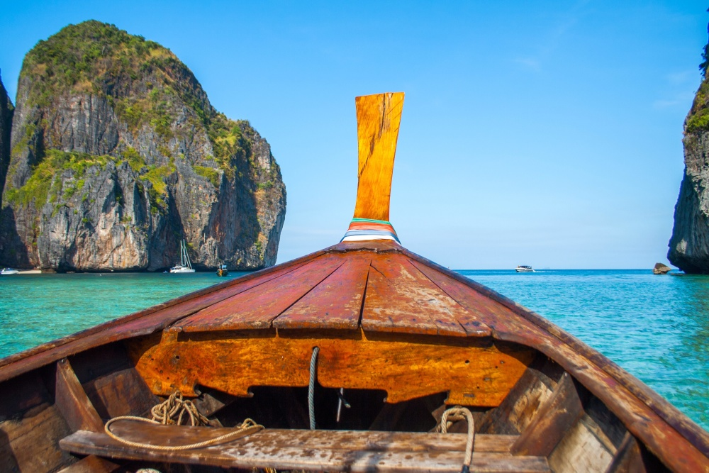 tropical, island, summer, boat, water, ocean