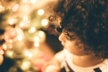 child, christmas, face, portrait, hair