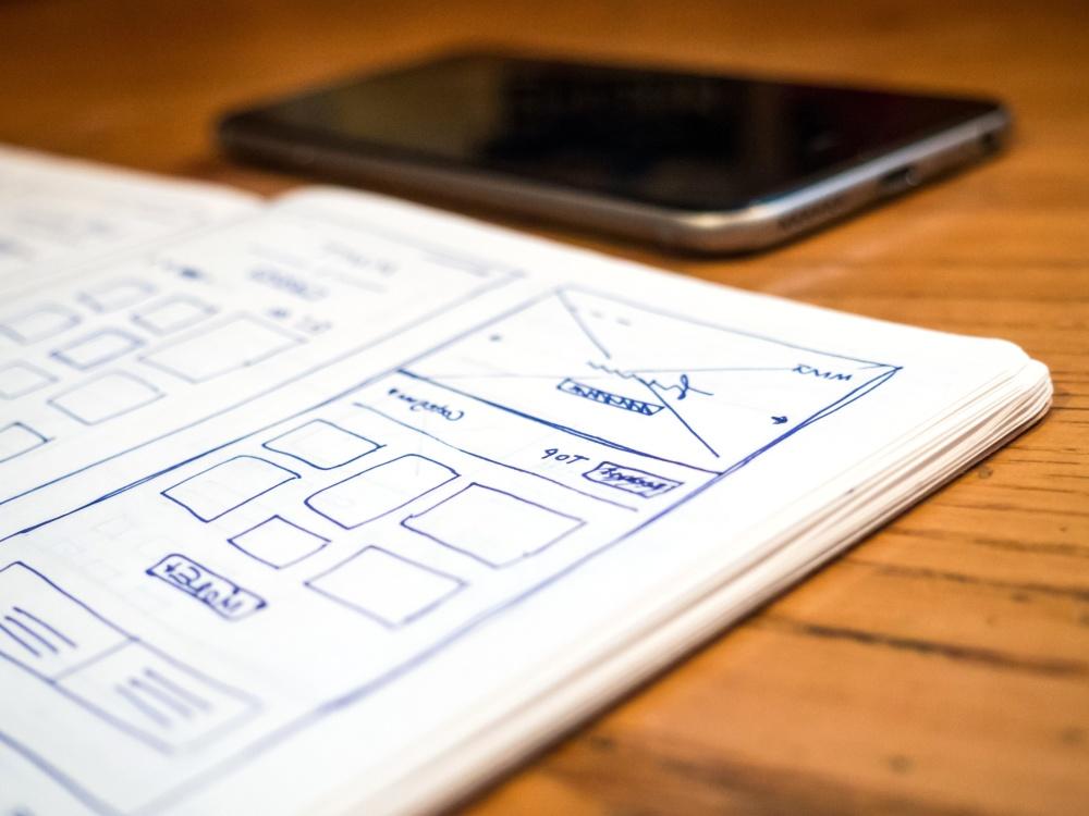 sketch, web design, document, paper, work