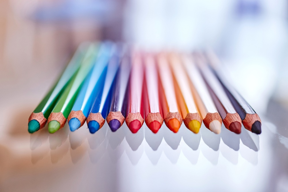 color, pencil, colorful, macro