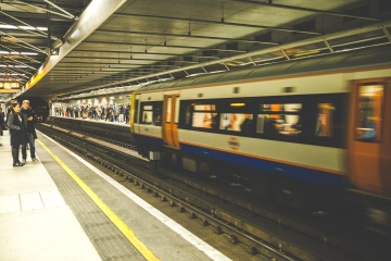 underground, train station, train, facility, people, crowd