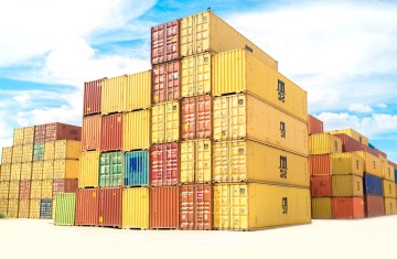 colorful, container, export, business, warehouse, urban, sky, cargo