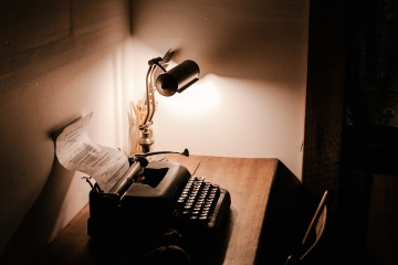 old, typewriter, lamp, desk, antique, technology, machine, mechanism