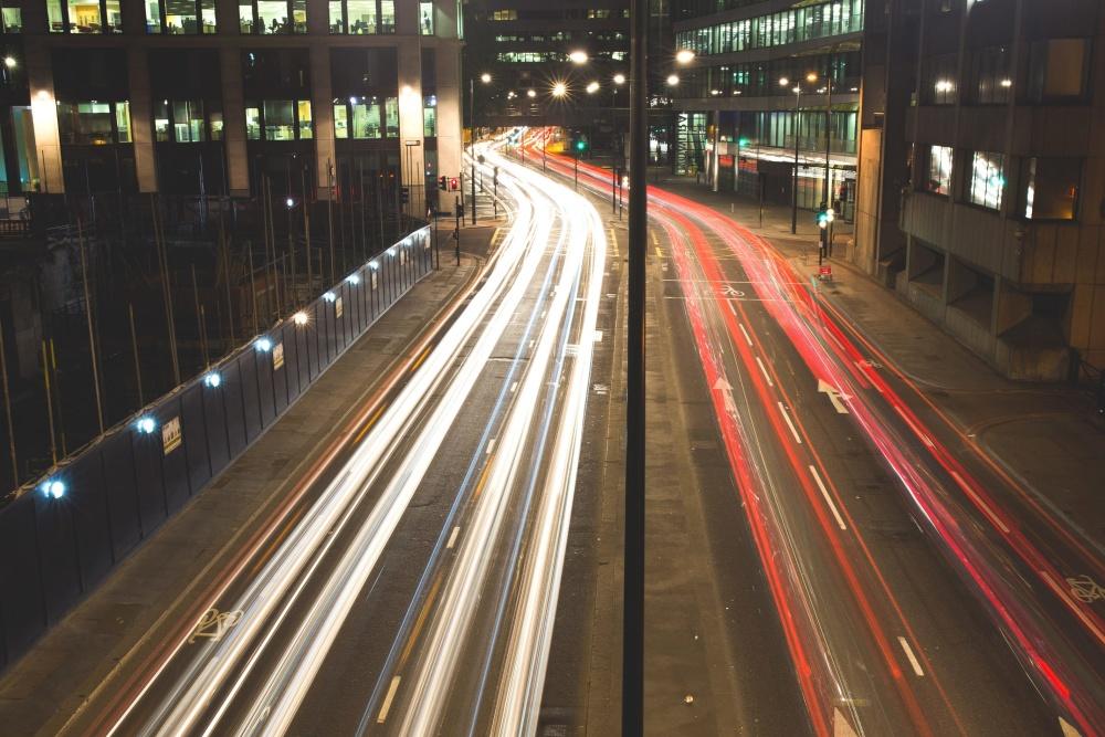 Ciudad, tráfico, coche, luz, camino, carretera, céntrico, tráfico