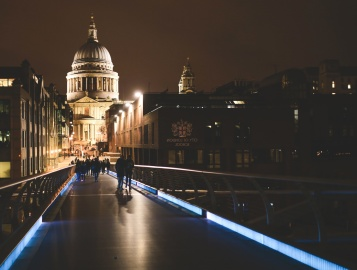 Cathédrale, ville, architecture, ciel, centre-ville, nuit