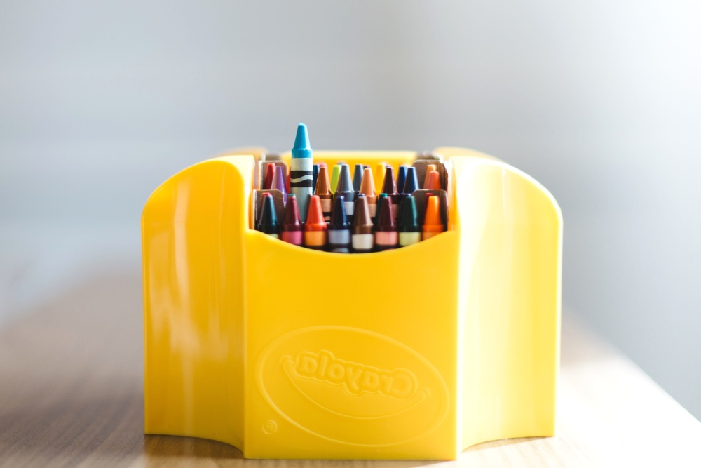 colorful, crayon, box, object, paint
