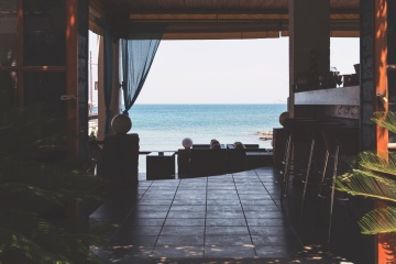 interior, beach house, beach, summer