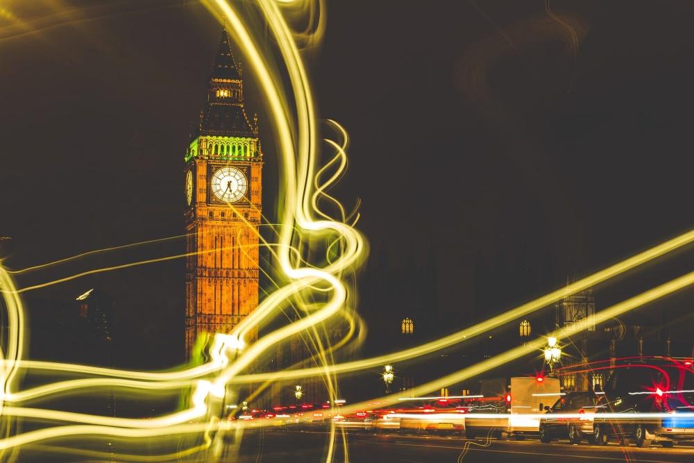 photomontage, downtown, tower, night, light, landmark