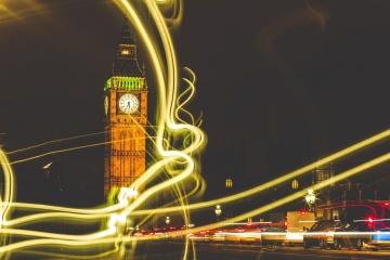 Photomontage, céntrico, torre, noche, luz, señal
