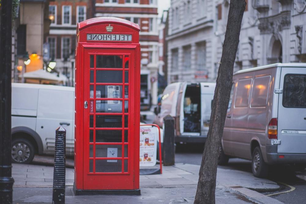 red, telephone, box, street, call, telephone, phone