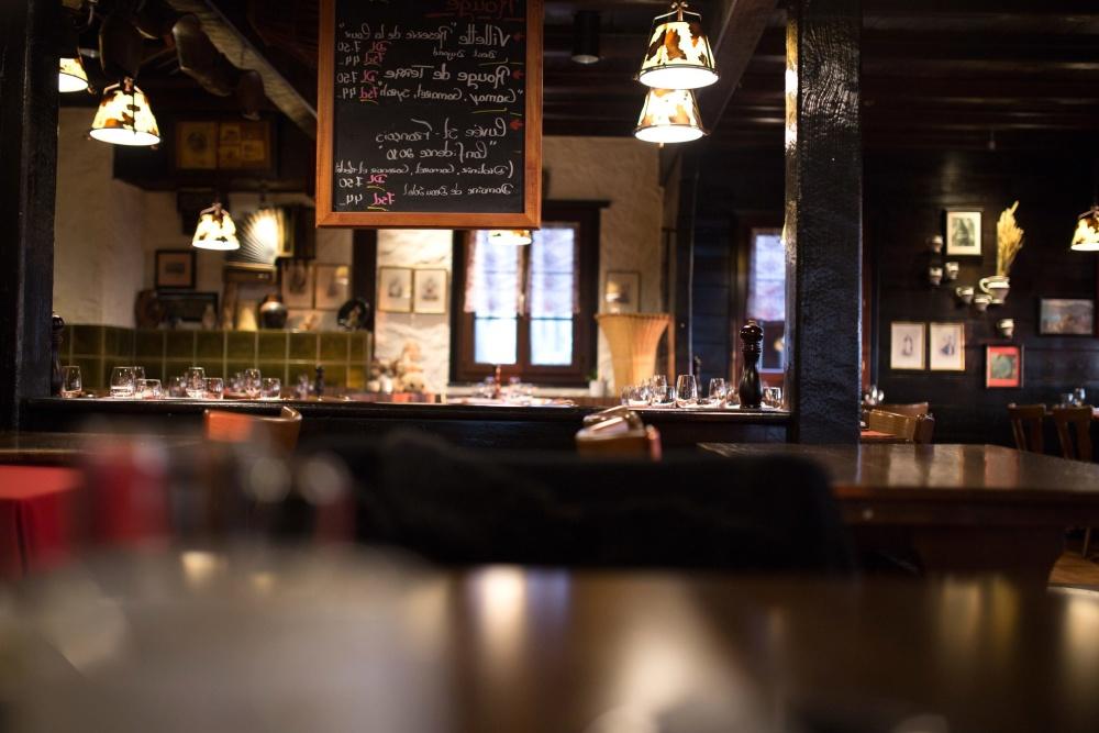 restaurant, chalkboard, interior