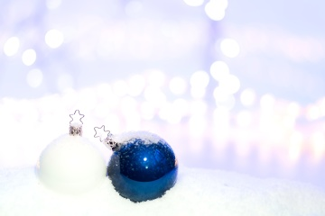 blue, christmas, decoration, holiday