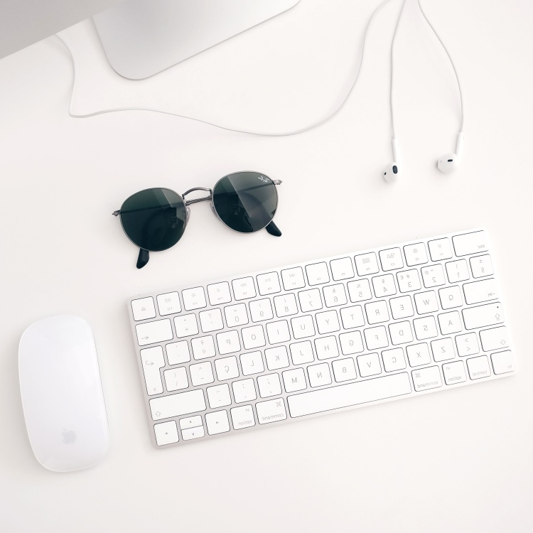 laptop keyboard, sunglasses, device, computer, technology, business, office, internet
