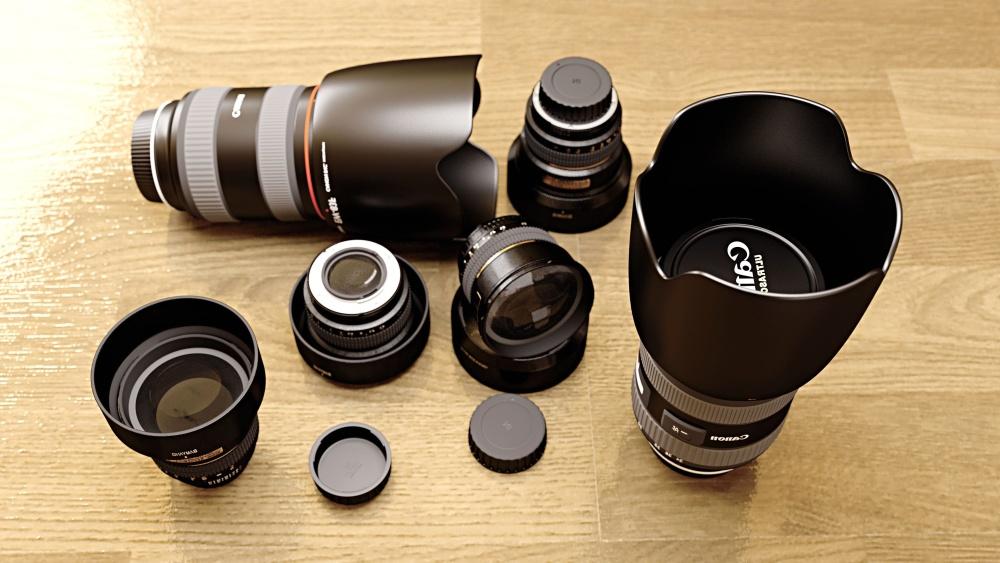 photo camera, lens, lens, instrument, device, equipment, technology, object