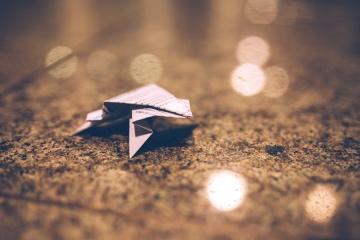 Origami, kartun, tanah, seni, kertas, dekorasi