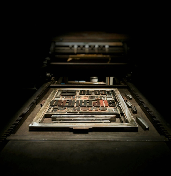 printing press, template, typography, equipment, device