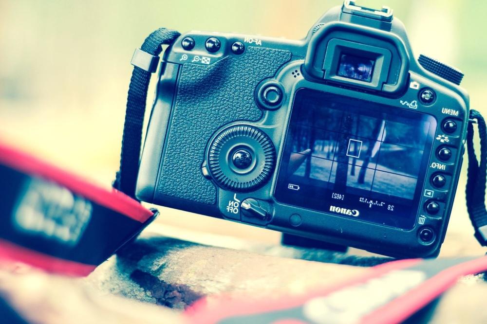 photo camera, equipment, black, technology