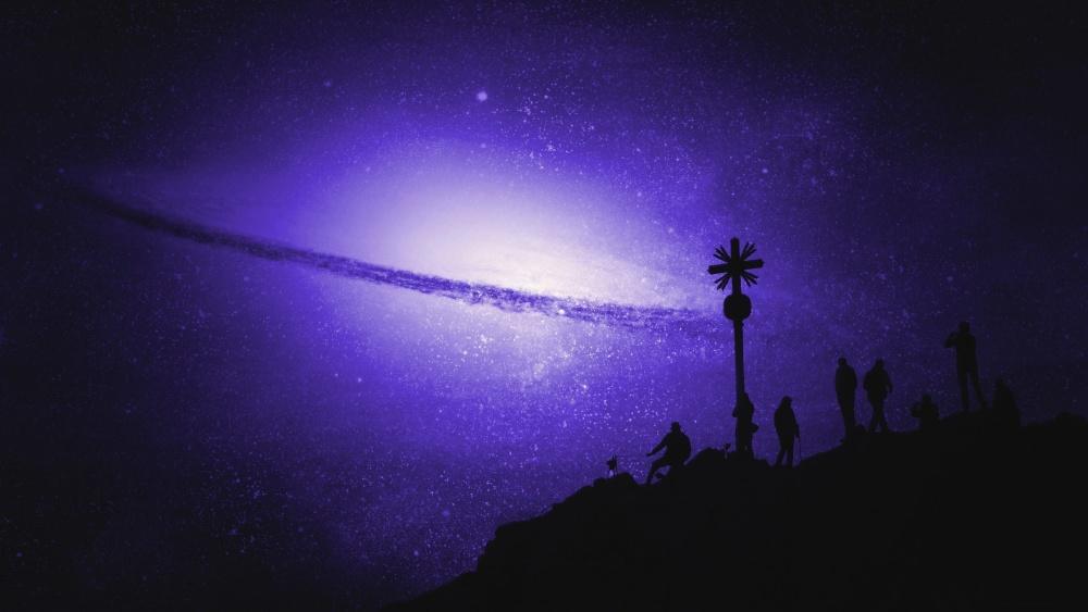 คืน เงา ดาว คน จักรวาล ภาพตัดต่อ