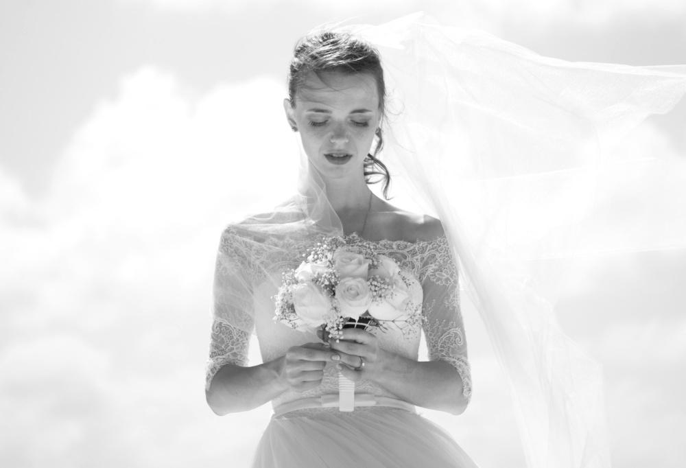 bride, wedding, flower, portrait, woman, pretty girl