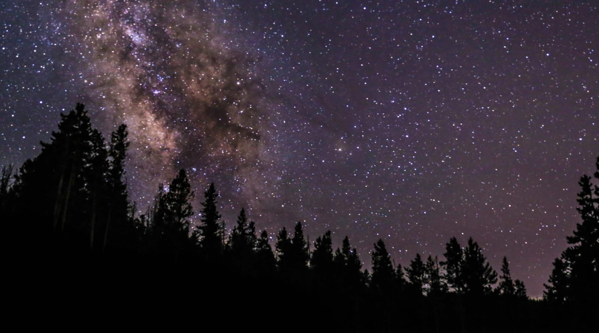 astronomi, galaksi, gökyüzü, karanlık, dusk, takımyıldızı, karanlık, gece