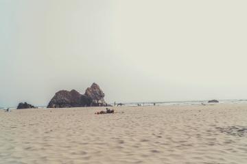 stranden, sand, sjø, land, kysten, vann, sommer, øya, fjæra