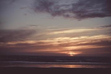 Atmósfera, cielo, sol, puesta del sol, nube, anochecer