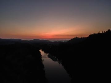 sun, sunset, sky, landscape, night, water, reflection, dusk