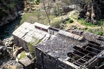 κατασκευή, σκουπίδια, βιομηχανία, παλιά, ρύπανση, νερό