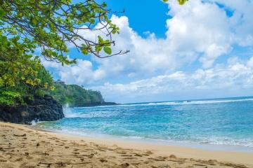 Sand, saari, beach summer, ocean, taivas, meri, coast, maisema