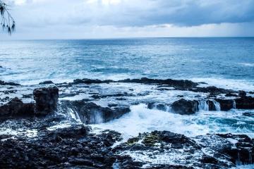 Wasser, ozean, küste, himmel, strand, landschaft, welle