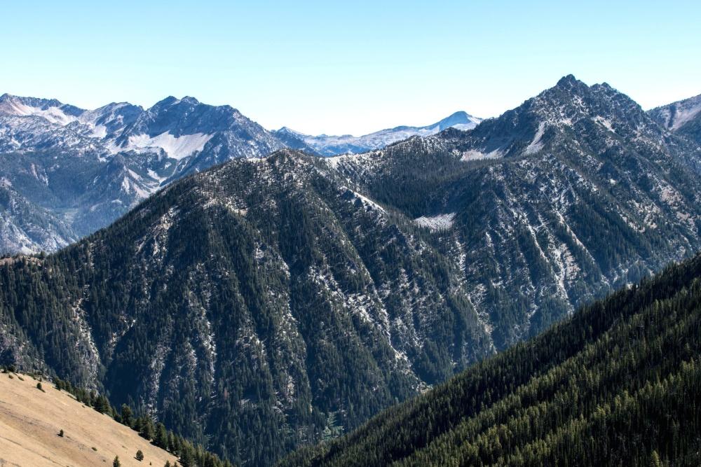 mountain, snow, landscape, valley, glacier, sky