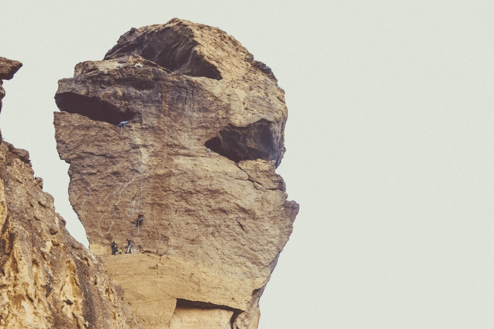 stone, sky, geology, mountain climbing