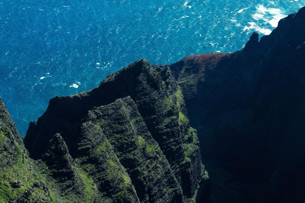 blue water, sea, outdoor, mountain, landscape, valley, coast