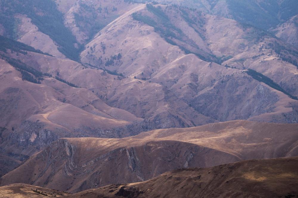 hill, canyon, mountain, landscape, desert, valley, mountains, sky