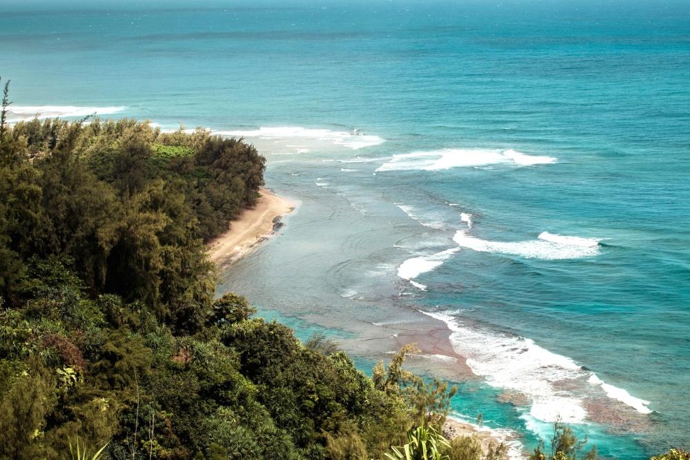blue, beach, water, seashore, sea, nature, ocean, summer, island, shore