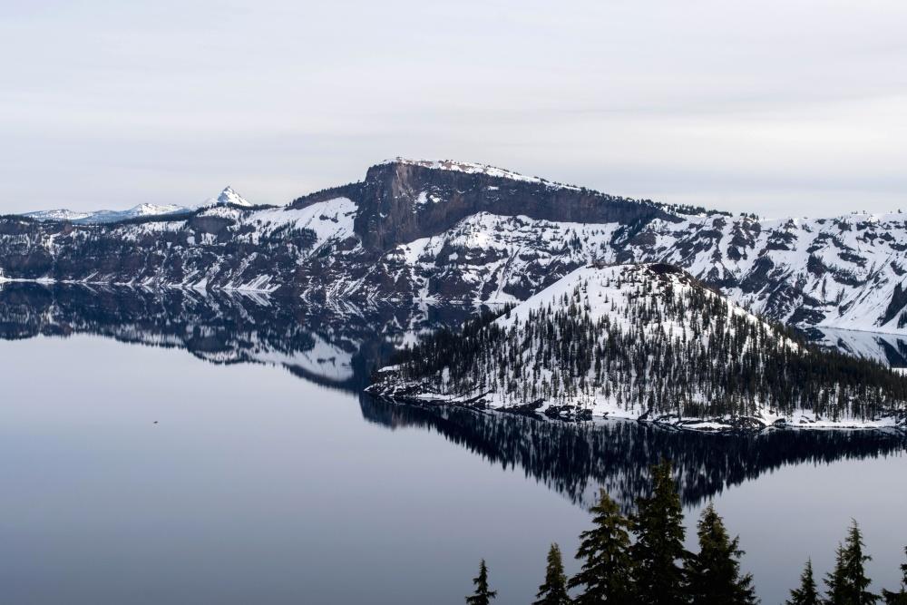 island, snow, water, mountain, landscape, lake, glacier