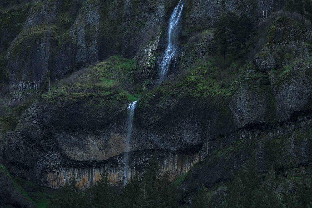 water, cliff, waterfall, landscape, nature, river, valley, mountain