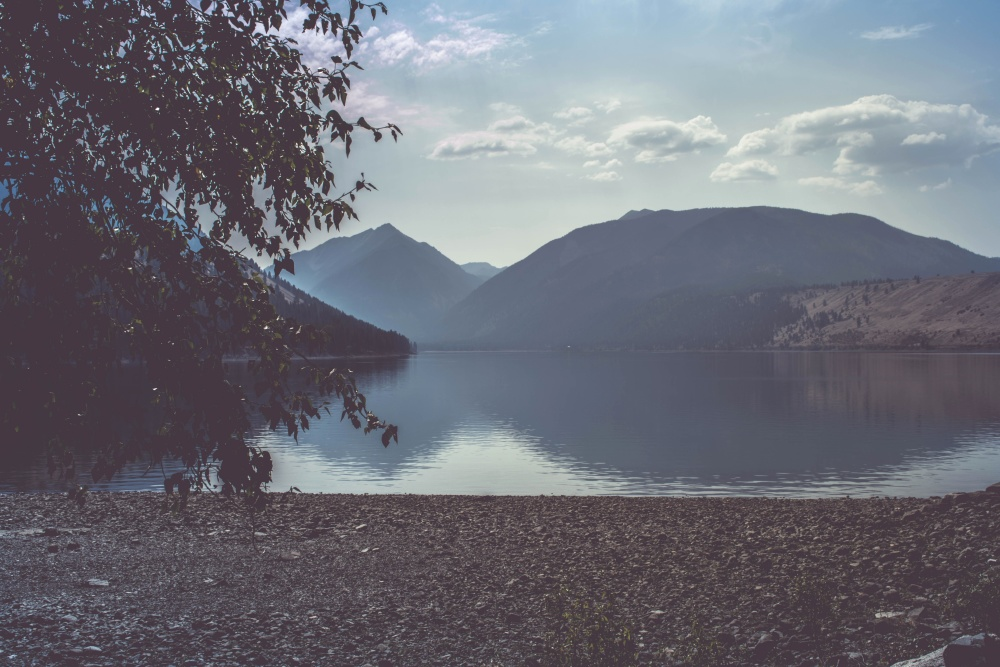 summer, water, landscape, lake, dawn, sky, nature, fog, reflection, beach, mountain