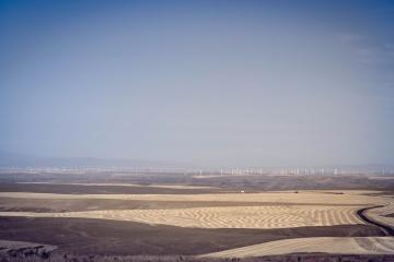 desert, water, landscape, sky, sand dune