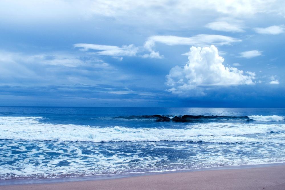 blue, horizon, water, nature, sky, summer, ocean, beach, sea, coast, landscape