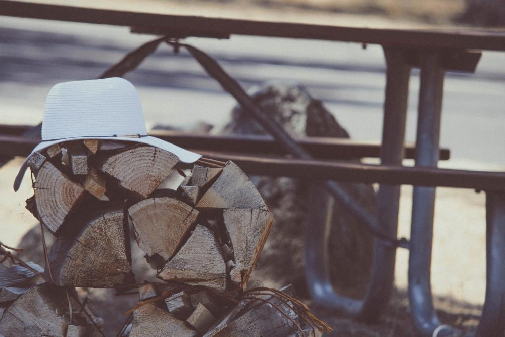hat, firewood, dusk, object