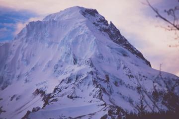 sneh, vrch, zimné, horské, studenej, ľad, ľadovec, krajina, obloha