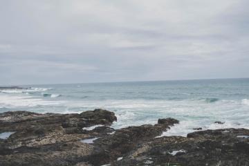 beach, water, sea, ocean, sky, nature, coast, landscape