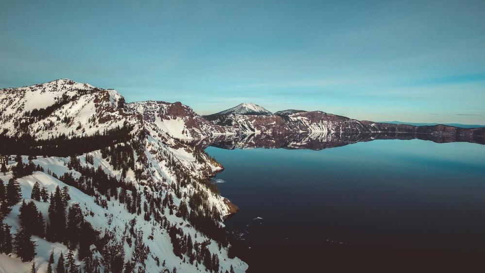lake, snow, water, sea, ocean, coast, landscape, beach
