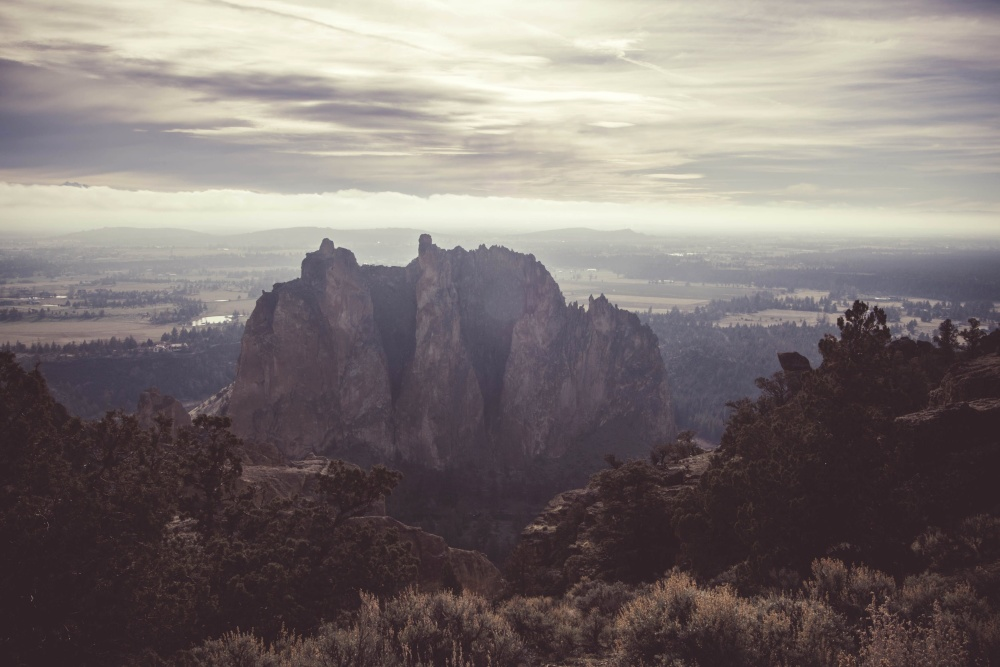 mountain peak, landscape, sunset, dawn, sky, mountain