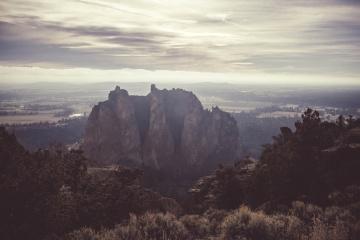 Pico de montaña, paisaje, puesta de sol, amanecer, cielo, montaña