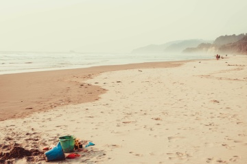 beach, sand, ocean, toy, water, sea, seashore, summer, coast