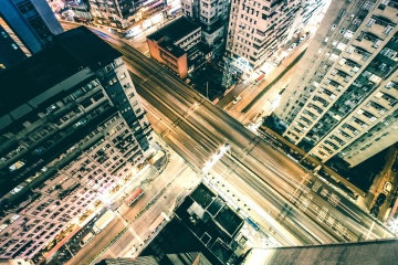 city, architecture, downtown, road, modern, urban, traffic